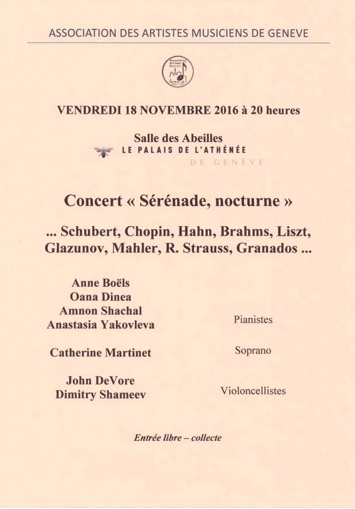 Affiche rose - Concert novembre  2016